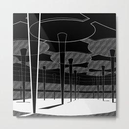 Negative Ferris Metal Print