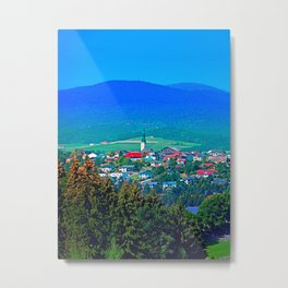 Village below the mountains Metal Print