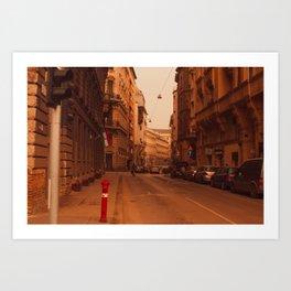 Budapest Street IV Art Print