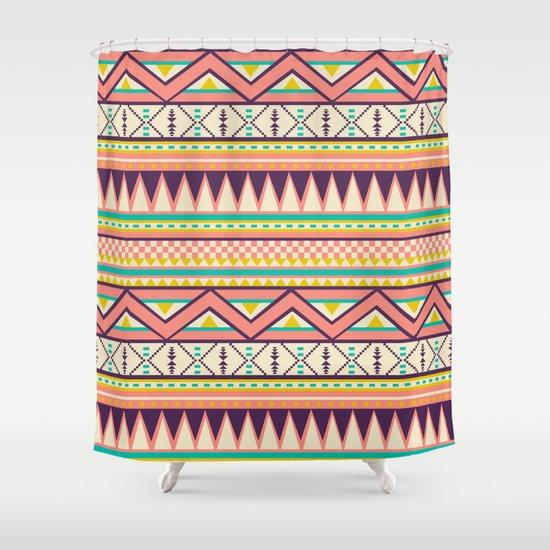 Ethnic love Shower Curtain