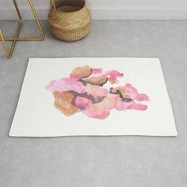 Watercolor Pink Black Gold Flow | [dec-connect] 50. cohesion Rug