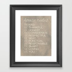 House Rules Framed Art Print