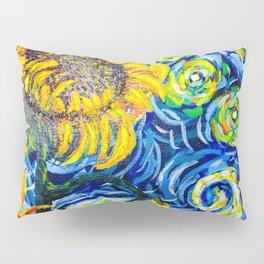 Gorgeous Blue and Yellow Van Gogh Sunflowers Pillow Sham