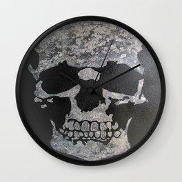 Diamond teeth silver skull Wall Clock