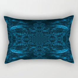 Blue Wood Paisley Rectangular Pillow