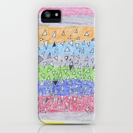 Colored Triangles iPhone Case