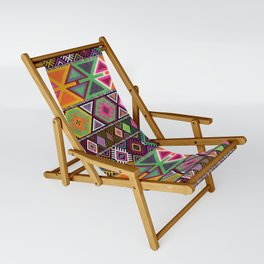 Aztec Artisan Tribal Bright Sling Chair