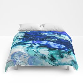 Liquid Abstract Comforters