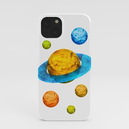 Colorful watercolor hand drawn planet. iPhone Case