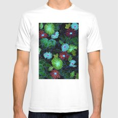 Oriental blossom (night version) Mens Fitted Tee MEDIUM White