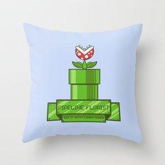Pipeline Florist Throw Pillow