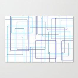 Blue Line Pattern Canvas Print