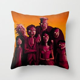 Monster Mash Throw Pillow