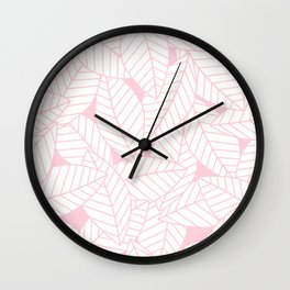 Leaves in Rose Wall Clock