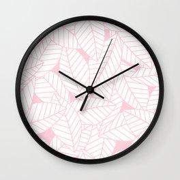Leaves in Rose Wall Clock