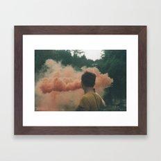 smoke on film Framed Art Print