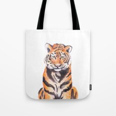 Watercolor Tiger Tote Bag