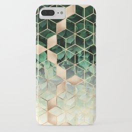 Leaves And Cubes iPhone Case