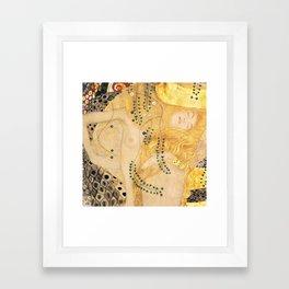 Water Serpents - Gustav Klimt Framed Art Print