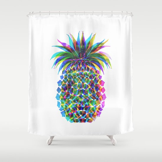 Pineapple CMYK Shower Curtain