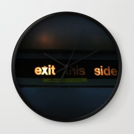 Exit this side Wall Clock