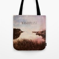 wanderlust Tote Bags featuring Wanderlust by Brianne Lanigan
