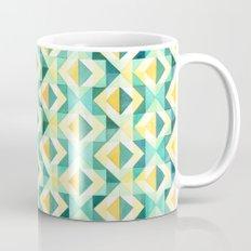 Quilted Diamond // Geometric Watercolor Pattern Mug