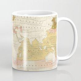 Vintage World Marine Life Map (1854) Coffee Mug
