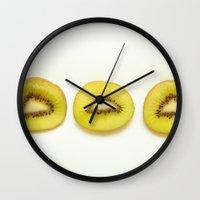 kiwi Wall Clocks featuring Kiwi by Loaded Light Photography
