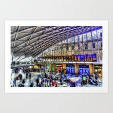 Kings Cross Station London Art Print