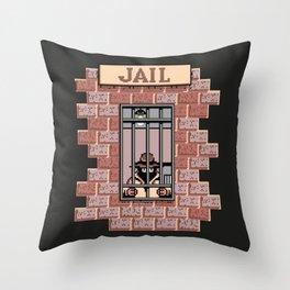 Carmen SanDiego's Jail Throw Pillow