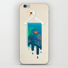 Swan Hanger iPhone & iPod Skin