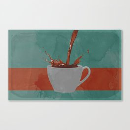 Caffeine splash Canvas Print