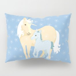 Unicorns. Mom and baby Pillow Sham