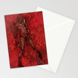 'My Bloody Scarecrow' by Kevin C. Steele Stationery Cards