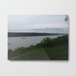 View on Hudson River Metal Print
