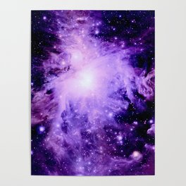 Orion nebUla. : Purple Galaxy Poster
