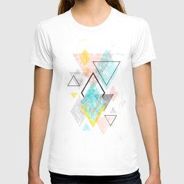 Minimalist Scandinavian Geometric Watercolor Art, Digital Download, Abstract Minimalism, Large Print T-shirt