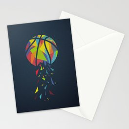 Basketball Explosion Triangle Stationery Cards