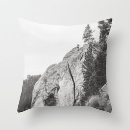 Mountain Drive Throw Pillow