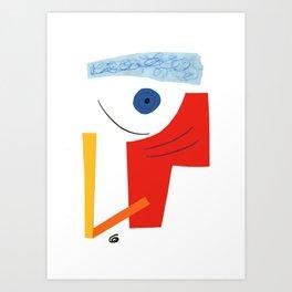 Abstract face. Art Print