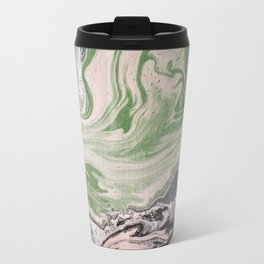Marbled paper desert colored Travel Mug