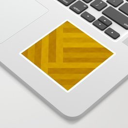 Boho, Geometric Art, Yellow, Faux Suede, Colourful Stripes Sticker