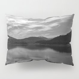 View over the Loch b/w Pillow Sham