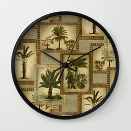 island palms Wall Clock