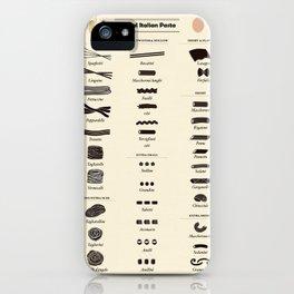 Types of Italian Pasta iPhone Case