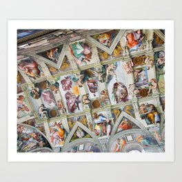 The ceiling of the Sistine Chapel Art Print