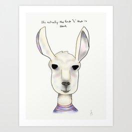 robert llama Art Print
