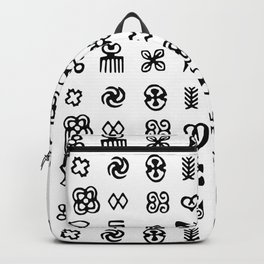 Adinkra Symbols Of West Africa Backpack