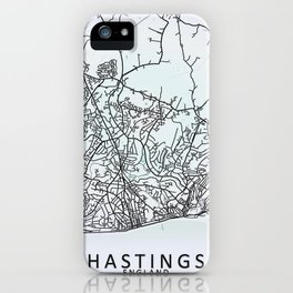 Hastings, England, City Map iPhone Case